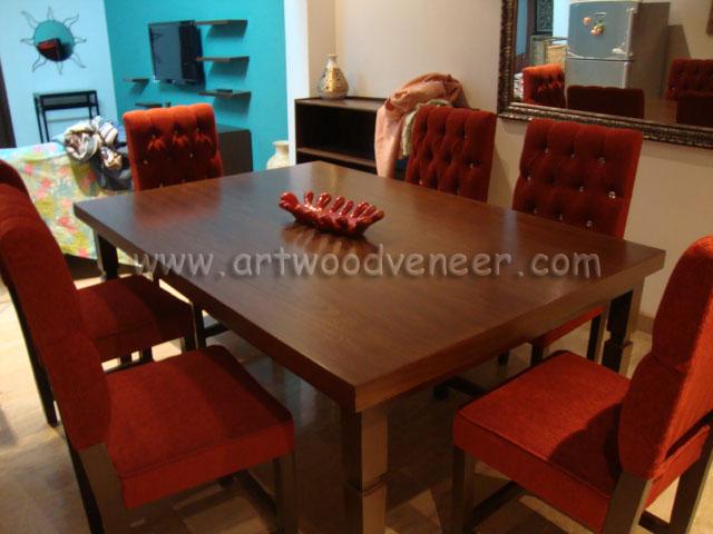 New design dining table sale in lahore art wood veneer