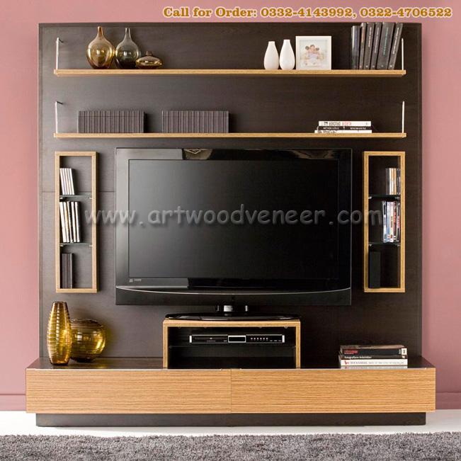 Lcd Tv Wooden Panel : Wooden LCD console / panel veneer design sale in Lahore  Art Wood ...