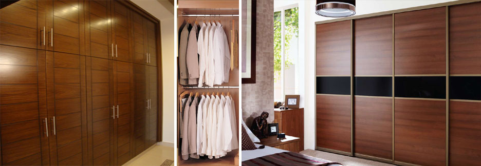 Smart wooden wardrobe sale in Lahore