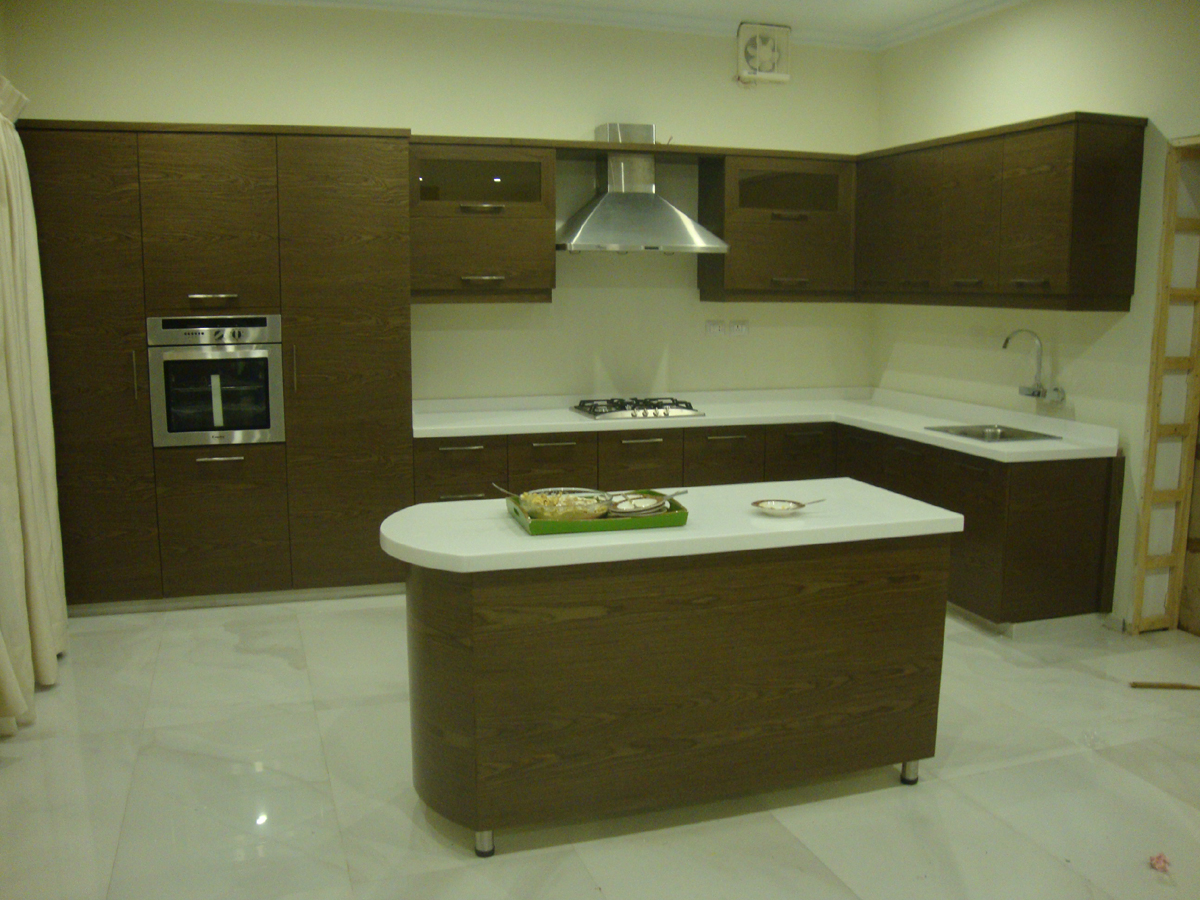 Veneer Kitchen Cabinets Kitchen Cabinets With Door Project At Gulberg Lahore