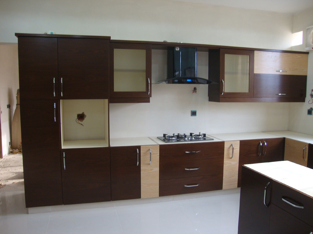 Kitchen and Wardrobes with Door Project at Islamabad DHA ...