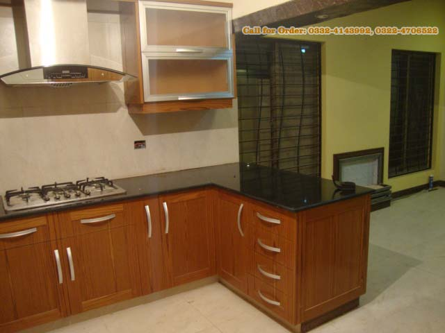 Cabinet for kitchen project at housing society sheikhupura for Kitchen cabinets in pakistan